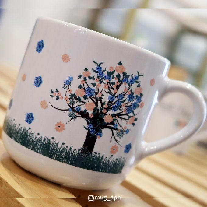 MUG TEA WEDDING H & S by Mug-App Wedding Souvenir - 002