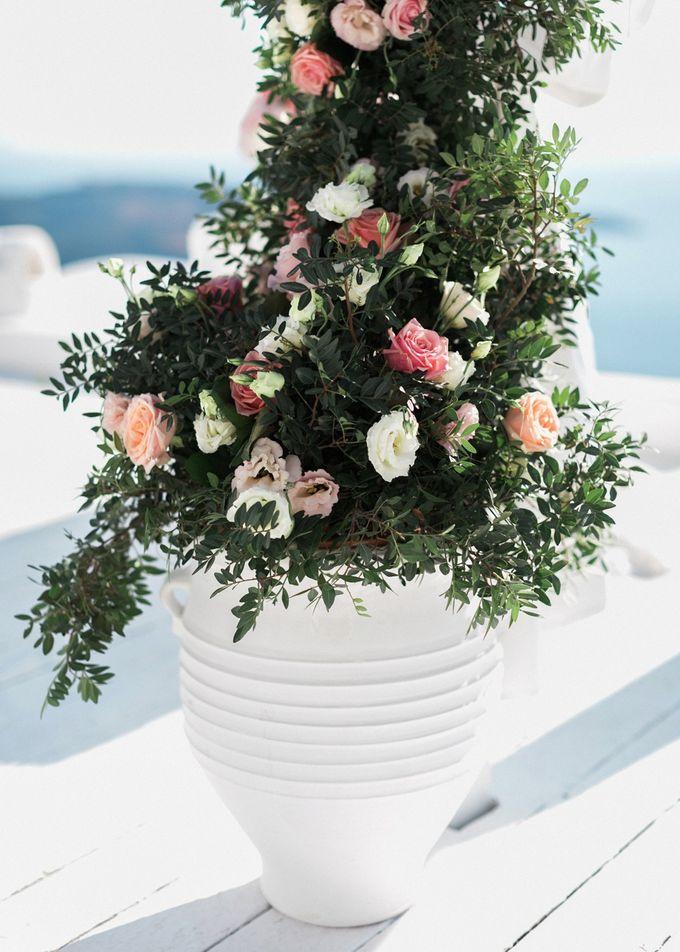 Dusty Pink Dream Wedding in Santorini by Stella & Moscha Weddings - 018