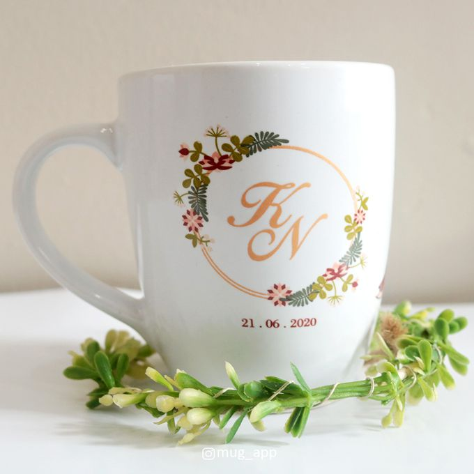 MUG CORNING WEDDING KAZUYA & NADIA by Mug-App Wedding Souvenir - 003