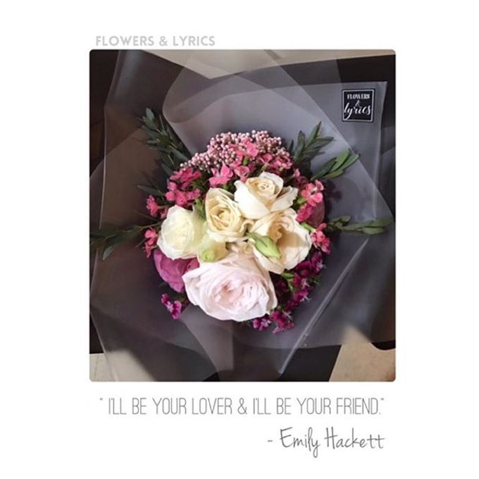 Personal Hand Bouquet by Flowers & Lyrics - 003