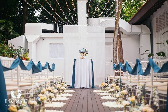 Roof of Stars Solemnisation Wedding by Botanico @ The Garage - 006