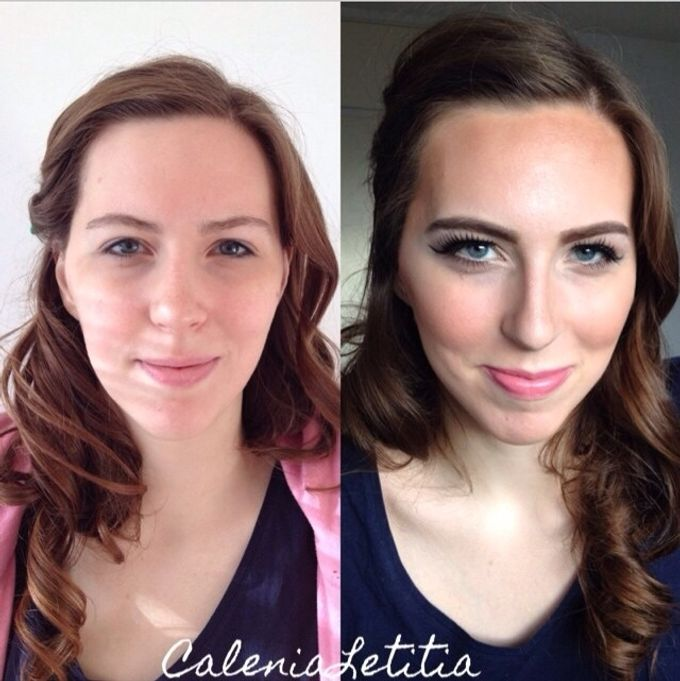 Before - After Makeup by Calenia Letitia Makeup Artist - 004