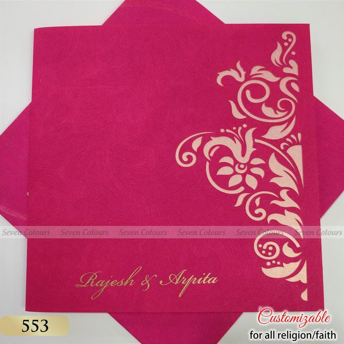 Designer wedding invitations collection by SEVEN COLOURS CARD - 008
