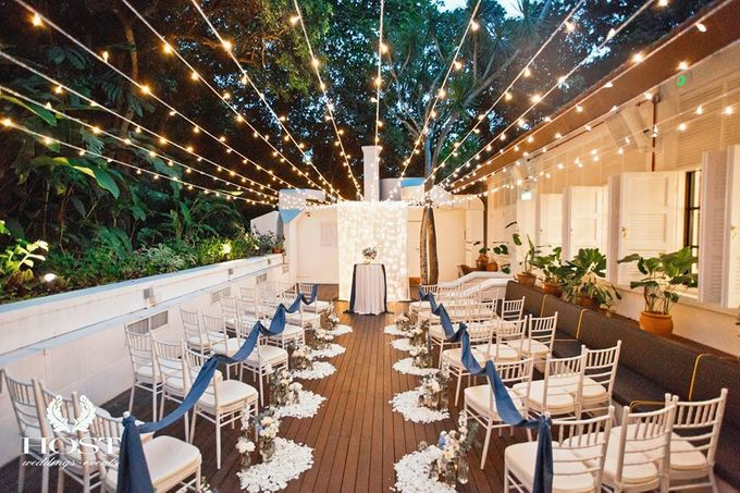 Roof of Stars Solemnisation Wedding by Botanico @ The Garage - 011