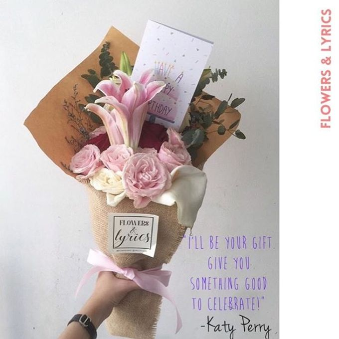 Personal Hand Bouquet by Flowers & Lyrics - 001
