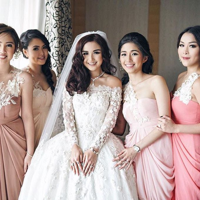 Jenifer Patricia wedding by Lademoiselle Bridesmaids - 002