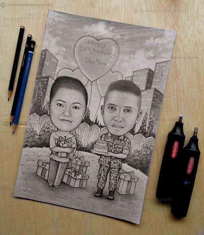 Caricature Drawing by Ramker Studio - 002