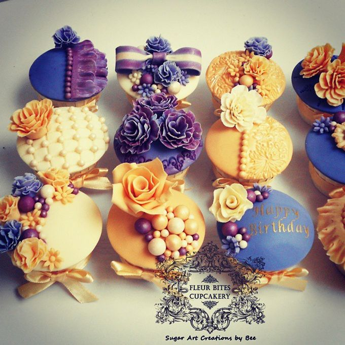 Engagements & Wedding Cakes by Fleur Bites Cupcakery - 013