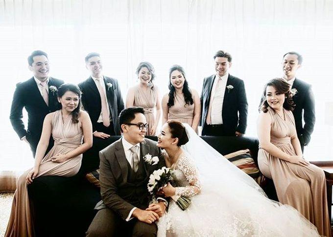 Beige at Frangky Amor Wedding by Imelda Hudiyono Bride - 004