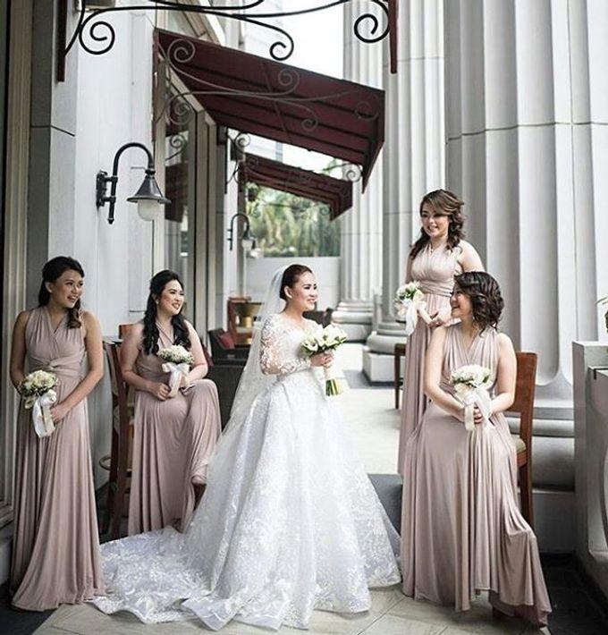 Beige at Frangky Amor Wedding by Imelda Hudiyono Bride - 001