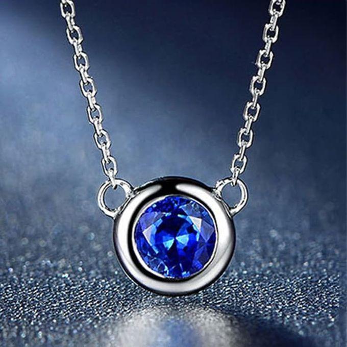 Magnificent TIARIA Sapphire Necklace Kalung Emas Safir by TIARIA - 002