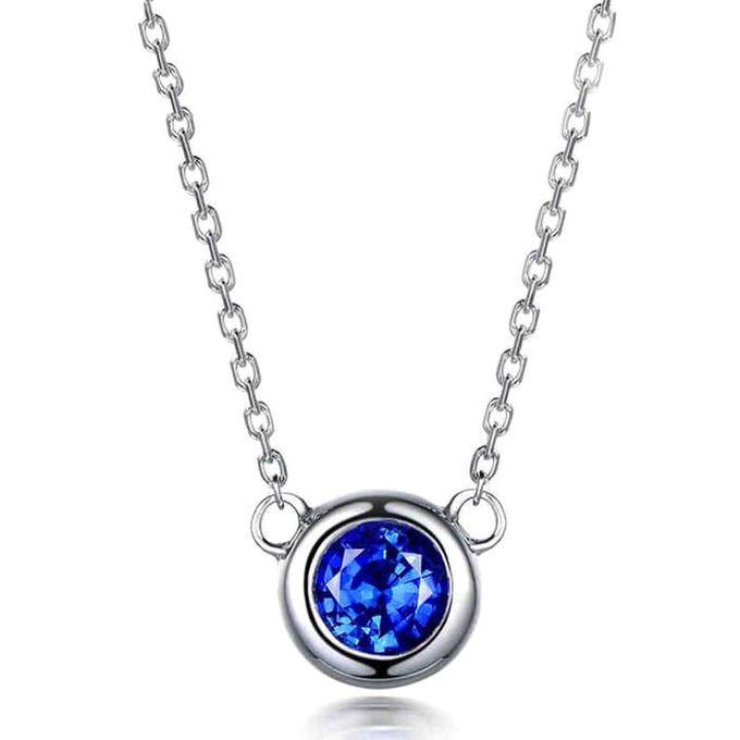 Magnificent TIARIA Sapphire Necklace Kalung Emas Safir by TIARIA - 004