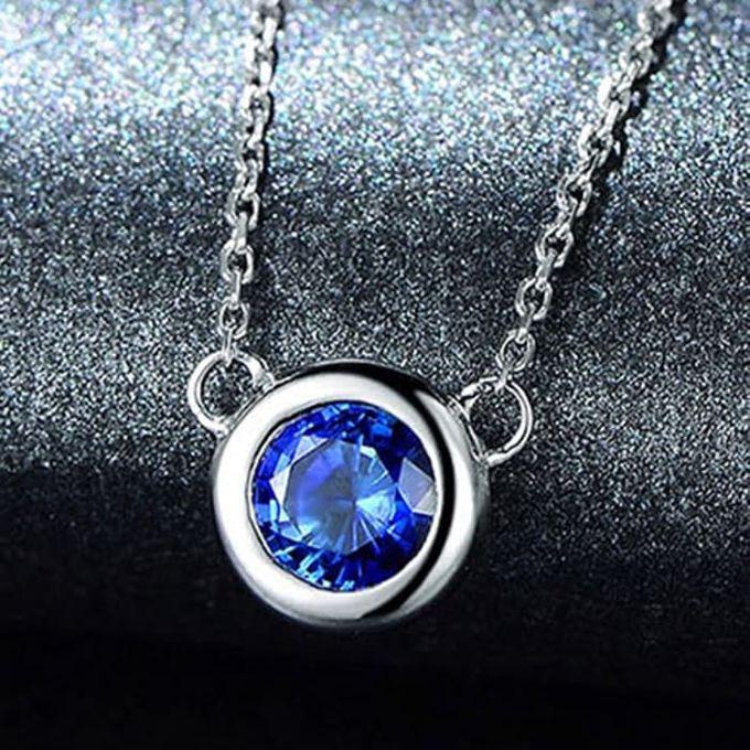 Magnificent TIARIA Sapphire Necklace Kalung Emas Safir by TIARIA - 001