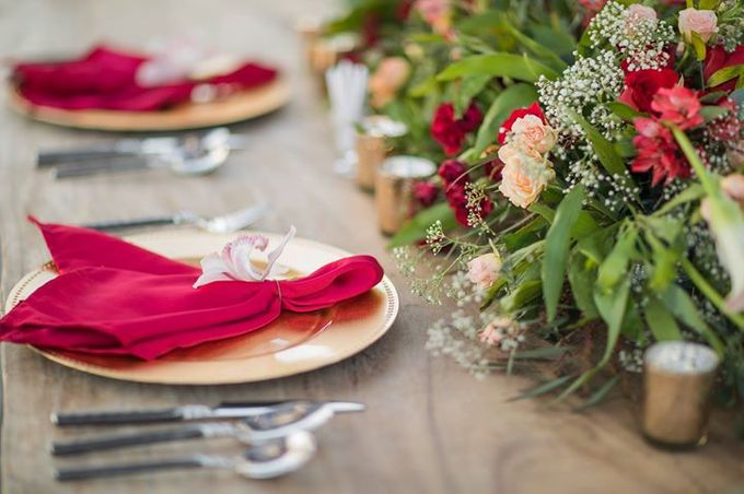 Vintage Crimson & Marsala by Flora Botanica Designs - 006