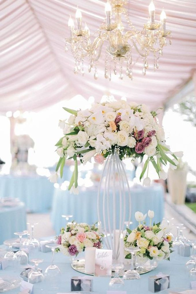 A Celebration Wrapped in Pink and Blue by Flora Botanica Designs - 005