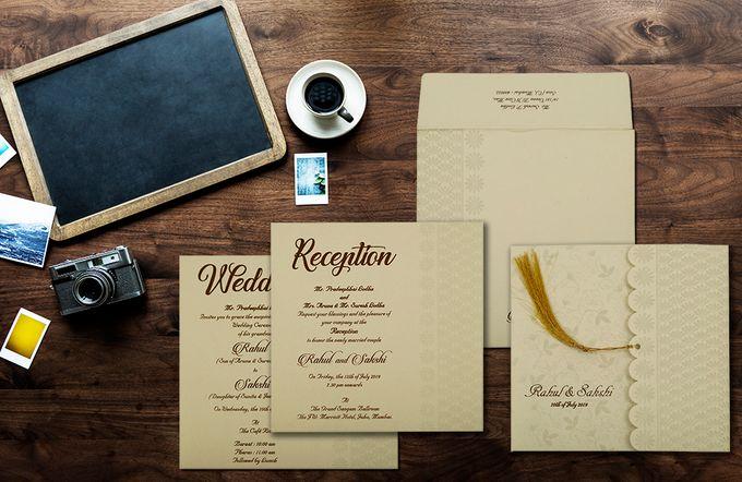 Floral Wedding invitation design for Rahul & Sakshi wedding by 123WeddingCards - 001
