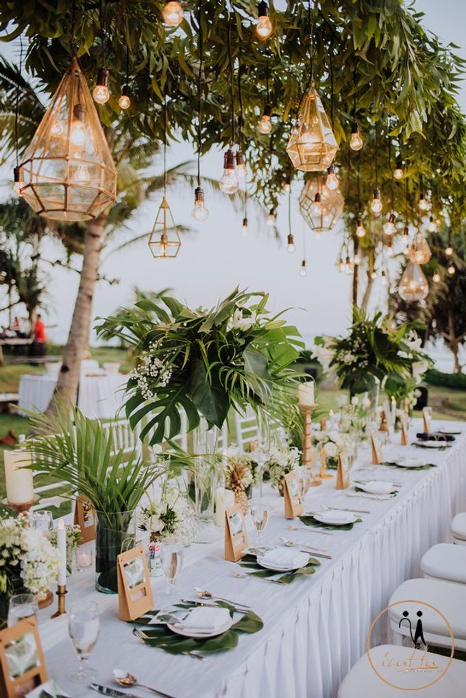 Tropical Greenery Wedding Decoration in Bali by Bali Izatta