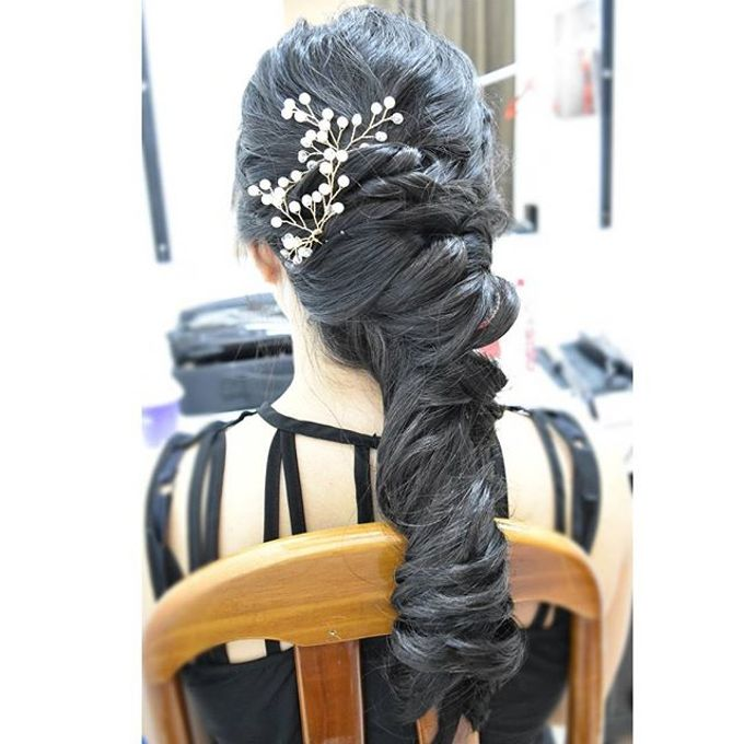 Half Up & Let Down & Pony Bridal Hairstyles by Après Makeup - 008