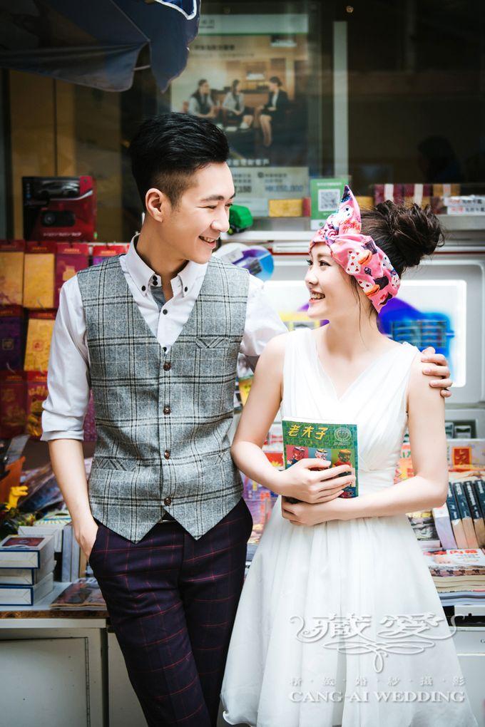 Bustling Street of Hong Kong by Cang Ai Wedding - 014