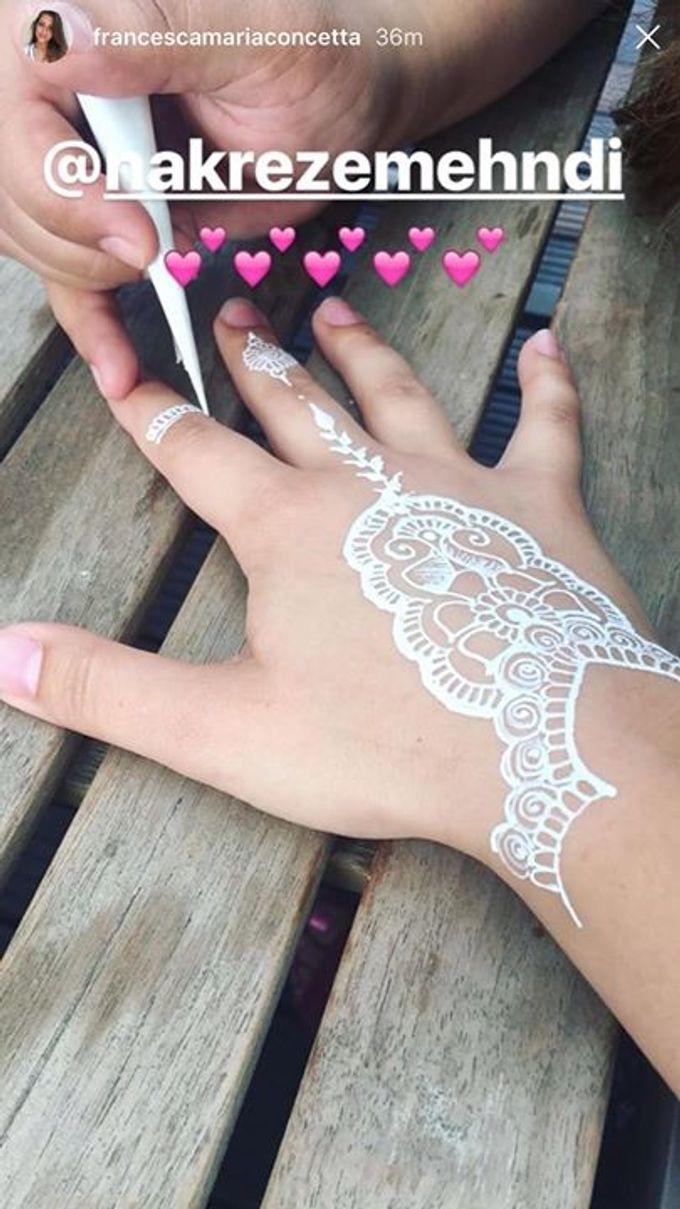 White Henna Non Chemical Nakreze Mehndi Bridestory