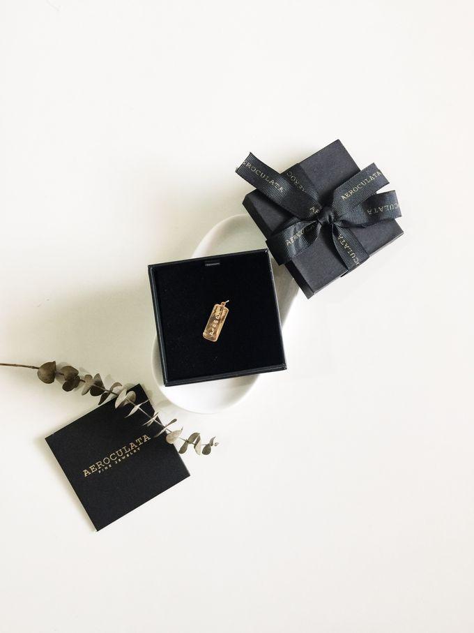 David 18ct Gold Custom Pendant by AEROCULATA - 001