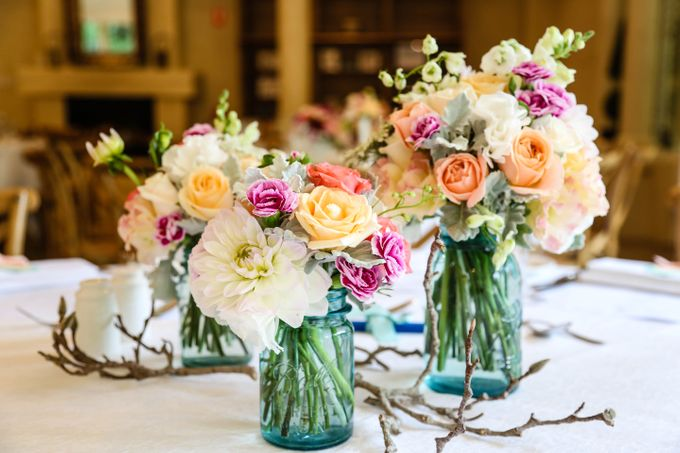 Ceremony and Reception by Affair with George  Florals & Event Styling - 009