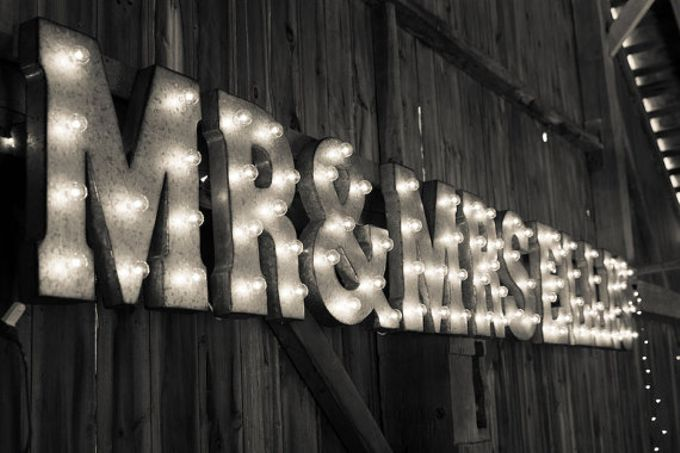 Wedding Sign by Mr & Mrs Signs - 002