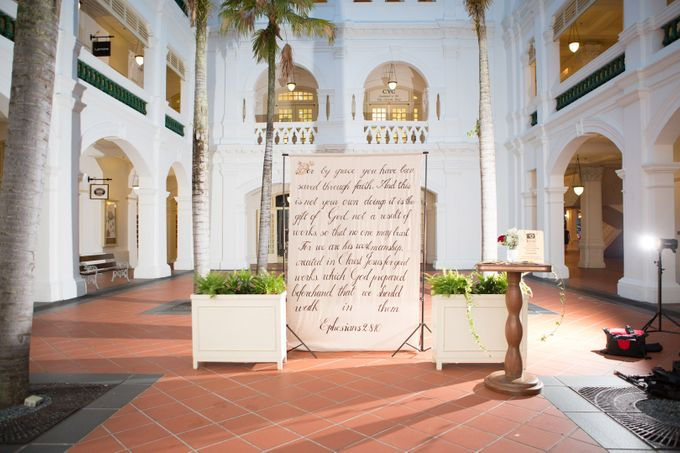 Wedding of Atli & Joey @ Halia at Raffles Hotel by The Halia - 001