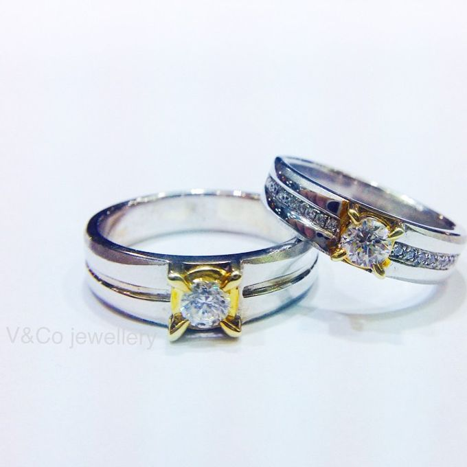 wedding ring simple Design by V&Co Jewellery - 005