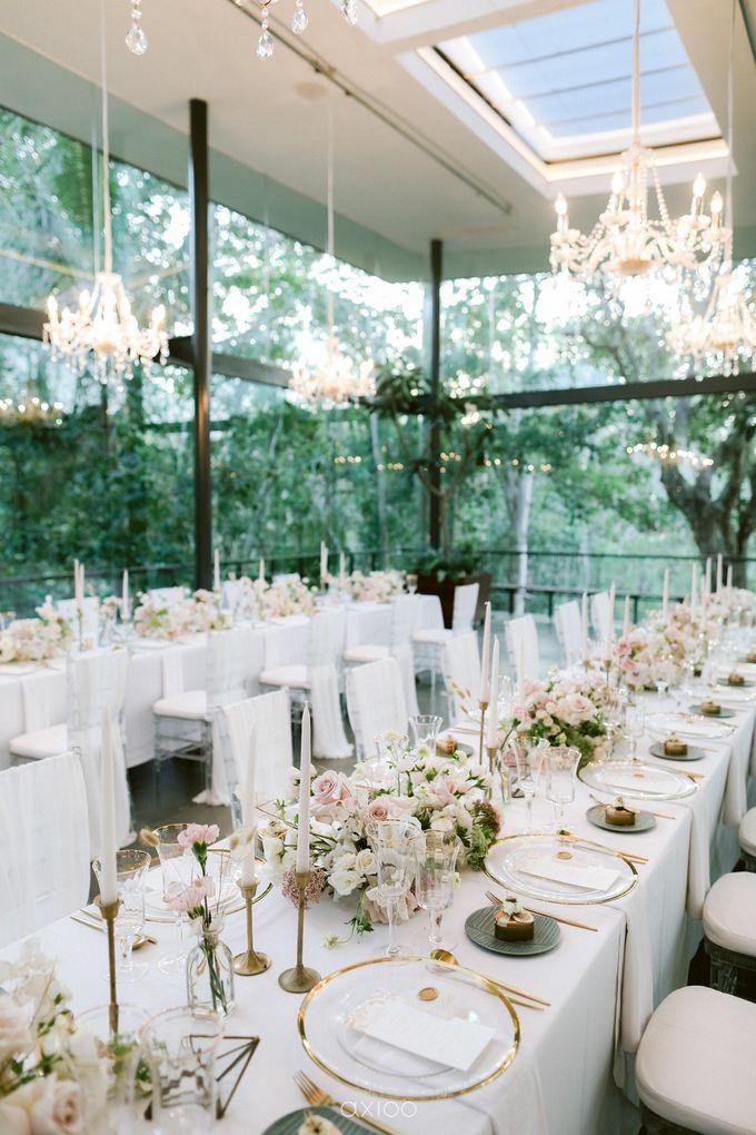 Elegant Peach Nude Wedding at Tirtha Glasshouse by Silverdust Decoration - 027
