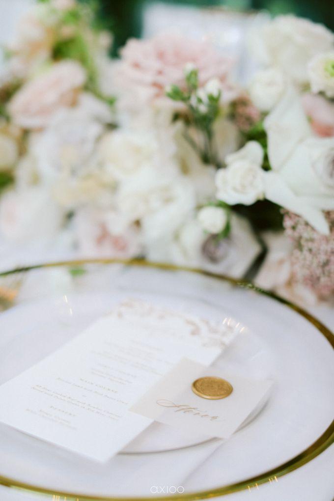 Elegant Peach Nude Wedding at Tirtha Glasshouse by Silverdust Decoration - 030