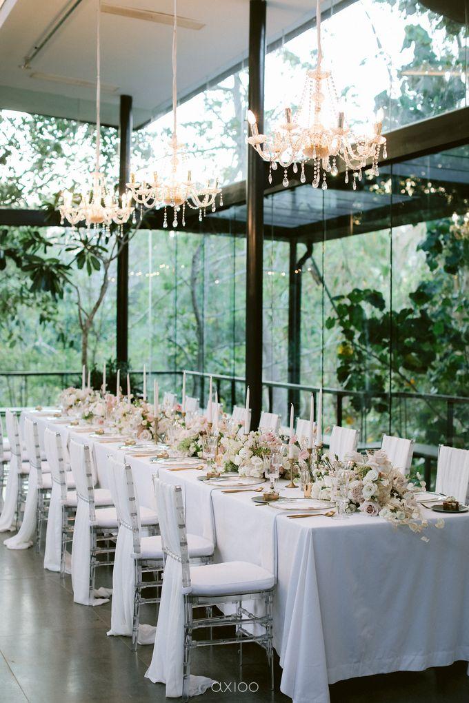 Elegant Peach Nude Wedding at Tirtha Glasshouse by Silverdust Decoration - 031