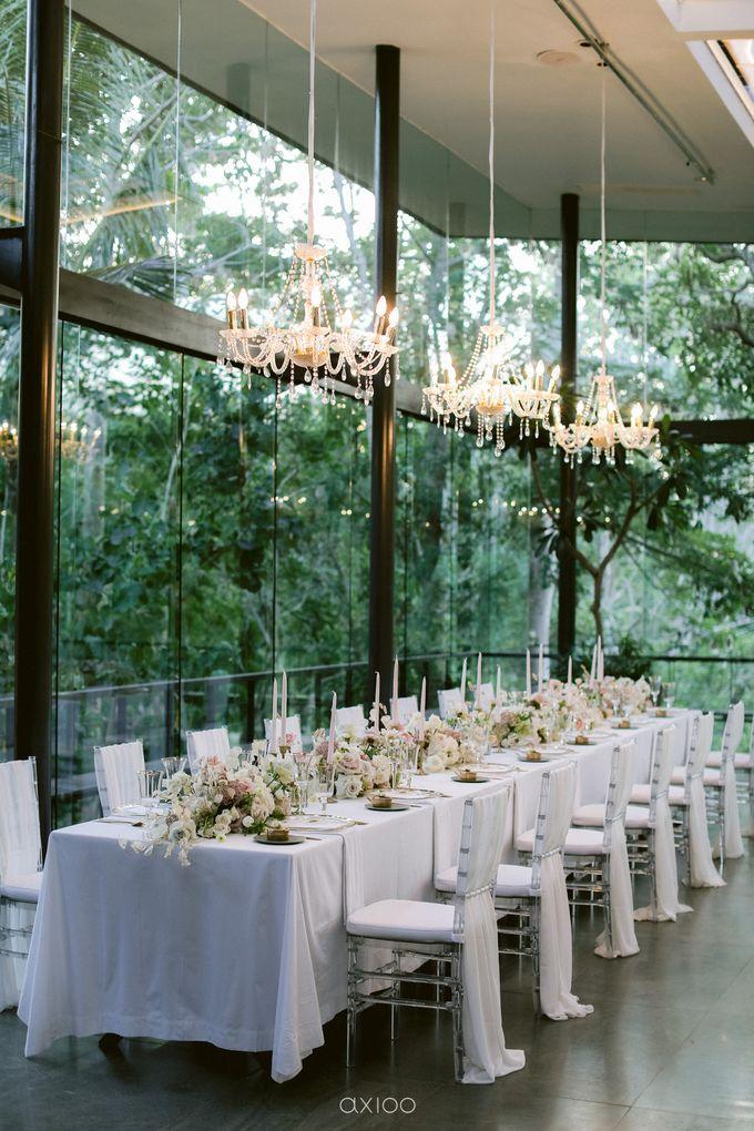 Elegant Peach Nude Wedding at Tirtha Glasshouse by Silverdust Decoration - 032