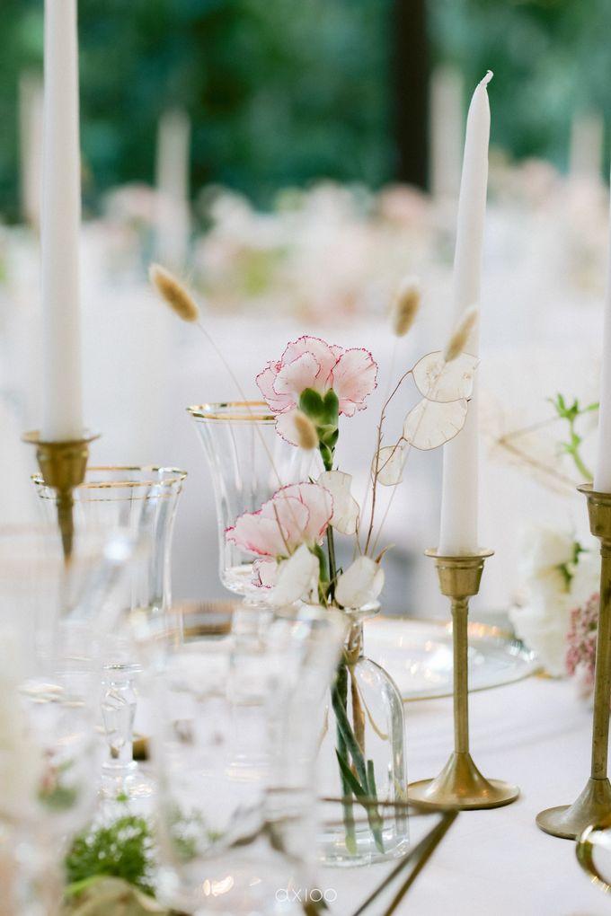 Elegant Peach Nude Wedding at Tirtha Glasshouse by Silverdust Decoration - 035
