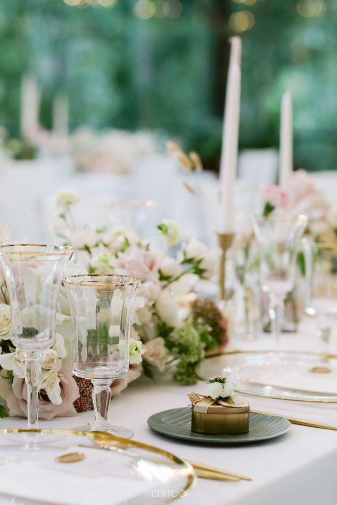 Elegant Peach Nude Wedding at Tirtha Glasshouse by Silverdust Decoration - 036
