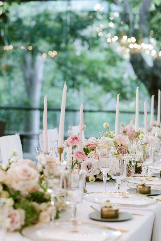 Elegant Peach Nude Wedding at Tirtha Glasshouse by Silverdust Decoration - 037