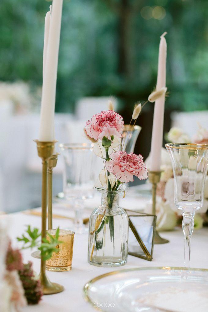 Elegant Peach Nude Wedding at Tirtha Glasshouse by Silverdust Decoration - 039