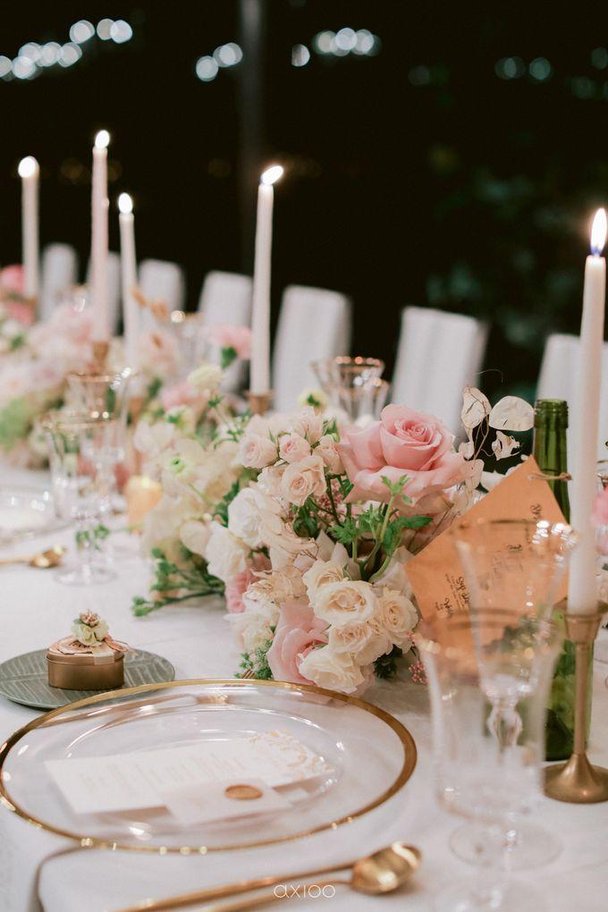 Elegant Peach Nude Wedding at Tirtha Glasshouse by Silverdust Decoration - 049