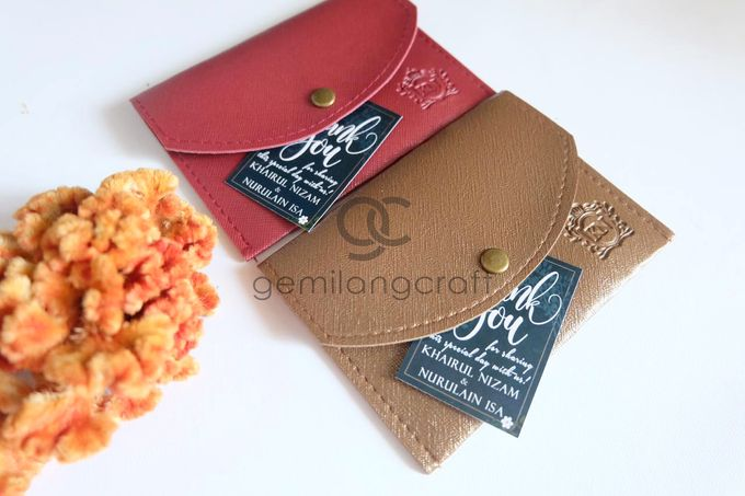 Coin case Prada for Khairul & Nurulain by Gemilang Craft - 002