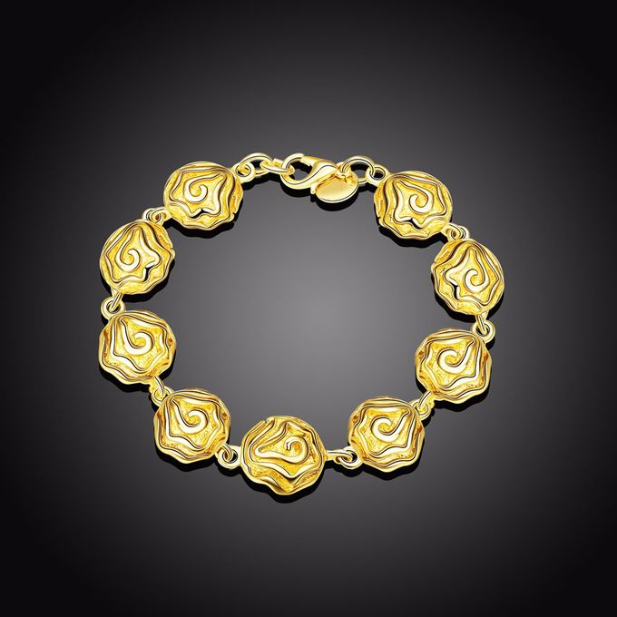 TIARIA Rose Shaped Gold Bracelet Perhiasan Gelang Emas by TIARIA - 001