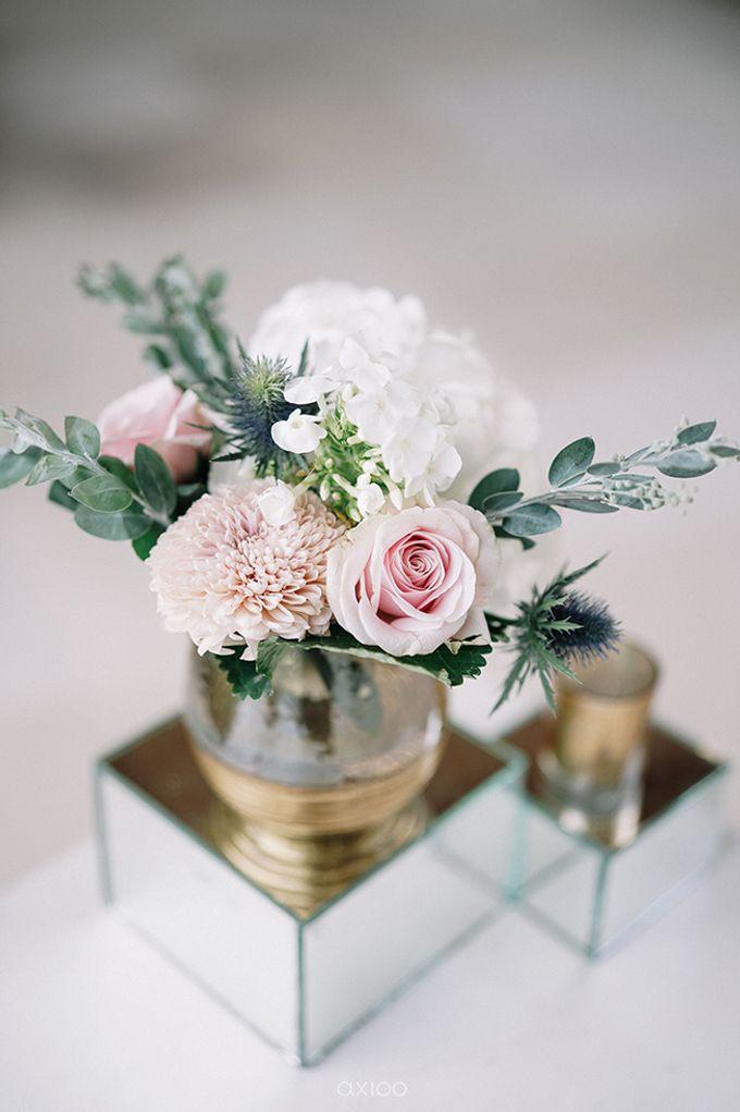 Villa Phalosa - Serene Dusty Blue Wedding by Flora Botanica Designs - 006