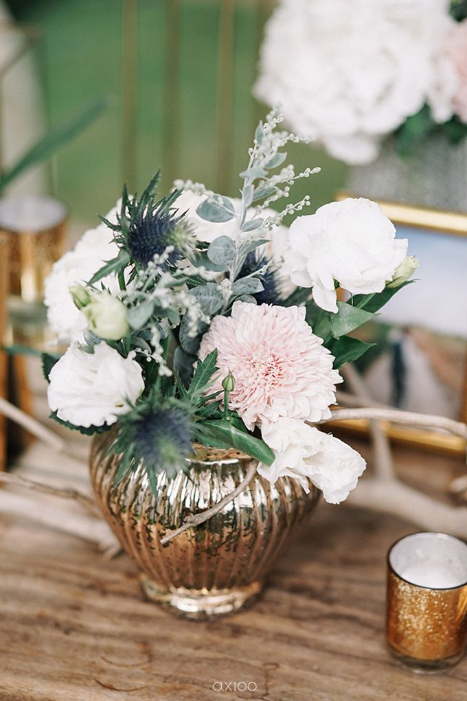 Villa Phalosa - Serene Dusty Blue Wedding by Flora Botanica Designs - 013