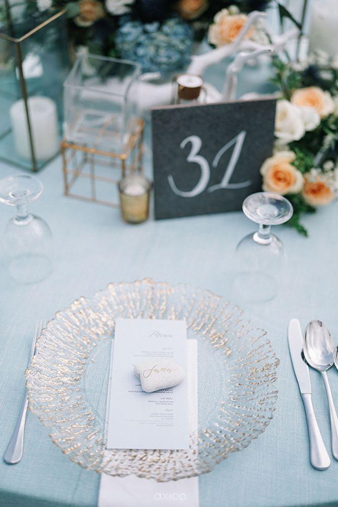 Villa Phalosa - Serene Dusty Blue Wedding by Flora Botanica Designs - 015