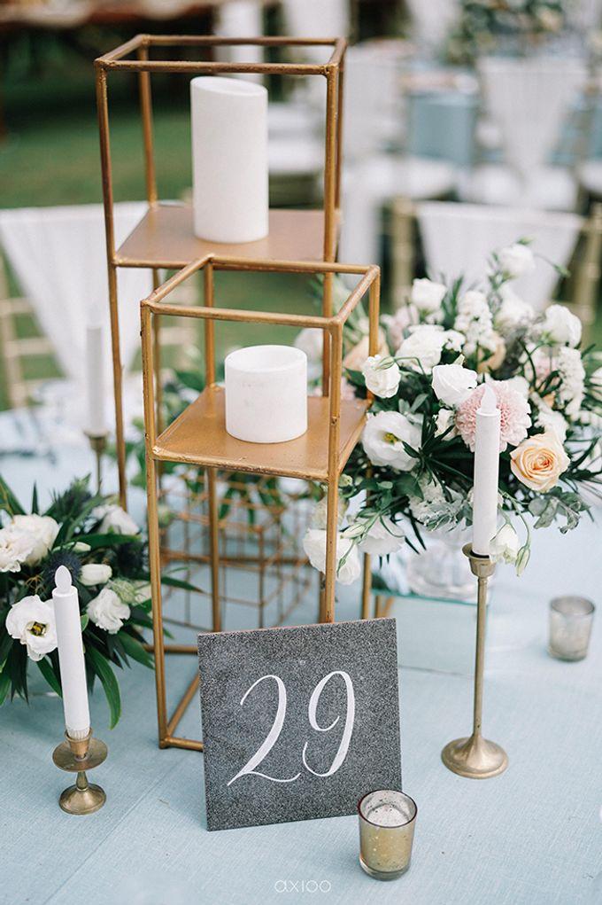 Villa Phalosa - Serene Dusty Blue Wedding by Flora Botanica Designs - 016