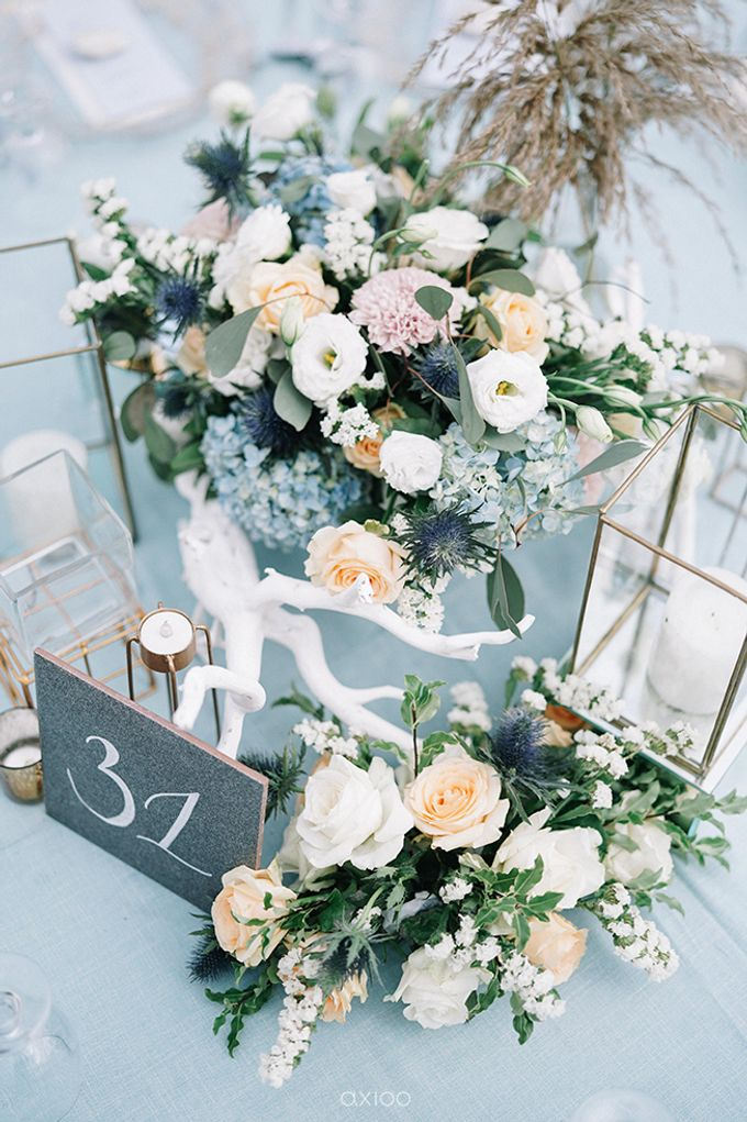 Villa Phalosa - Serene Dusty Blue Wedding by Flora Botanica Designs - 017