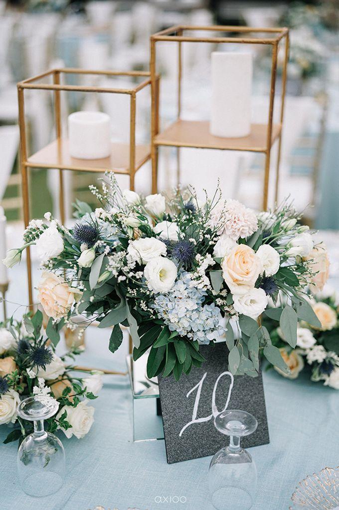 Villa Phalosa - Serene Dusty Blue Wedding by Flora Botanica Designs - 019