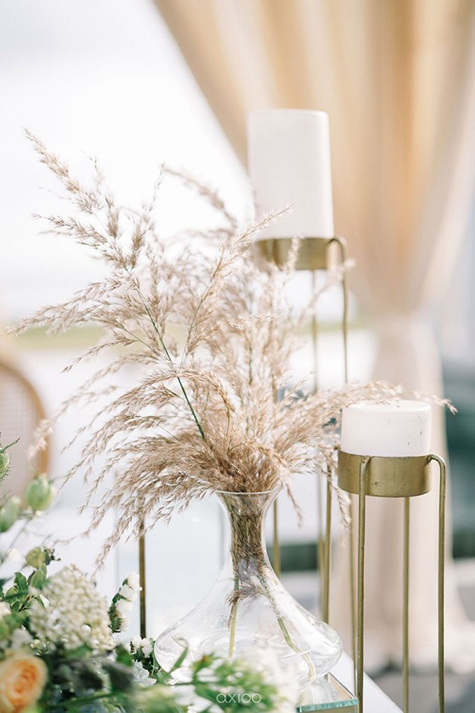 Villa Phalosa - Serene Dusty Blue Wedding by Flora Botanica Designs - 022