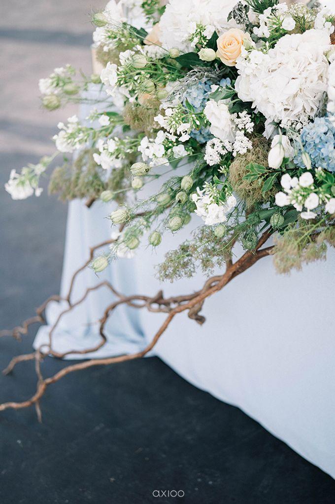 Villa Phalosa - Serene Dusty Blue Wedding by Flora Botanica Designs - 023