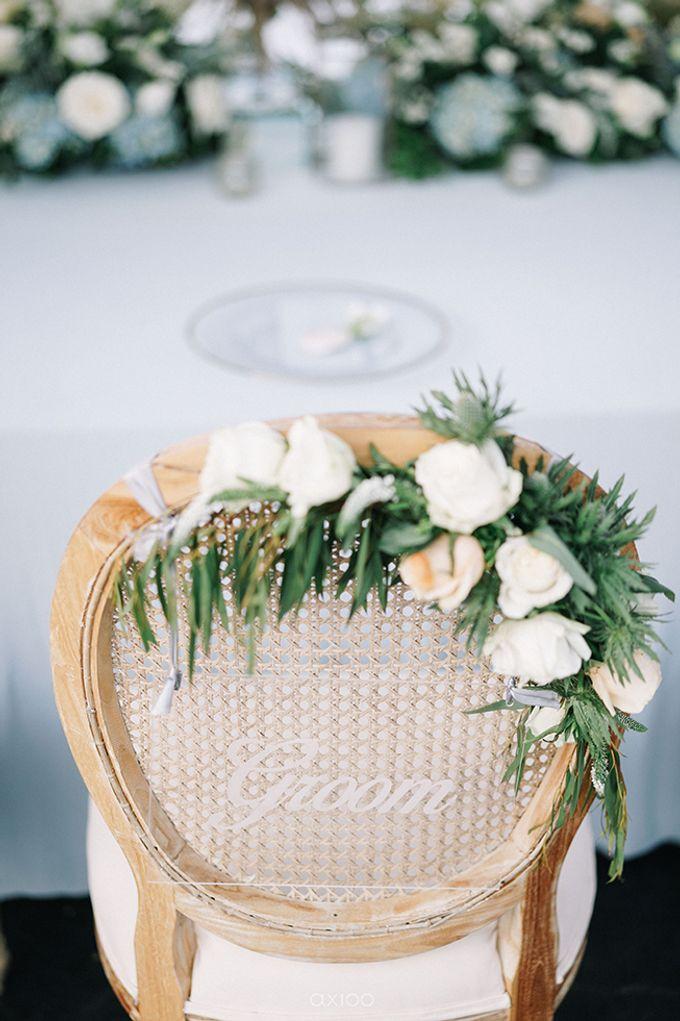 Villa Phalosa - Serene Dusty Blue Wedding by Flora Botanica Designs - 024