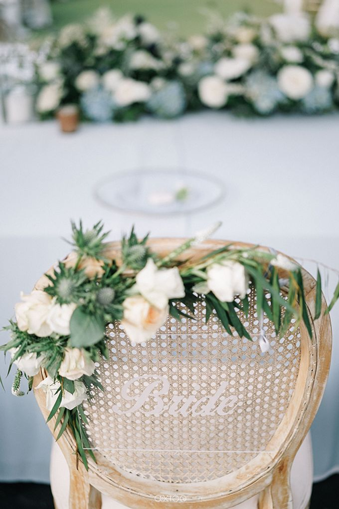 Villa Phalosa - Serene Dusty Blue Wedding by Flora Botanica Designs - 025